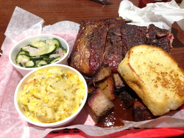 Ribs and Burnt Ends with two sides