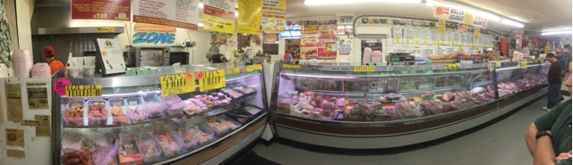 Panoramic of the Deli and Meat Market