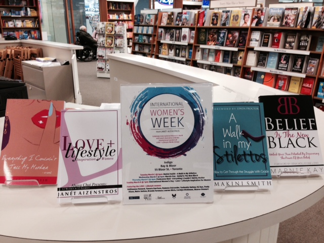 Love Lifestyle Publishing Group authors featured here at Indigo Bay & Bloor, March 3th - 8th 2015