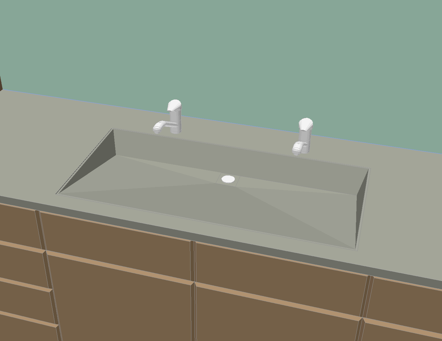Early concrete sink design
