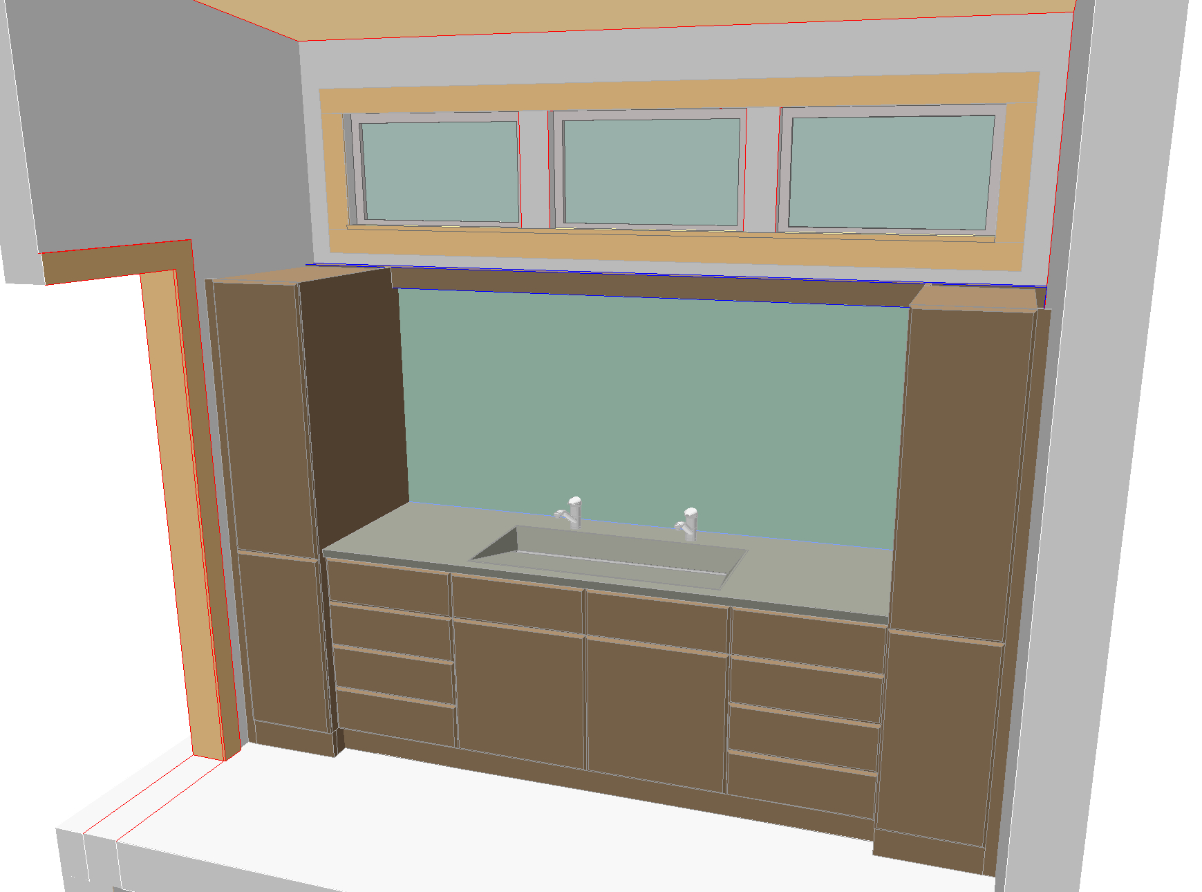 Rendering of Cabinets