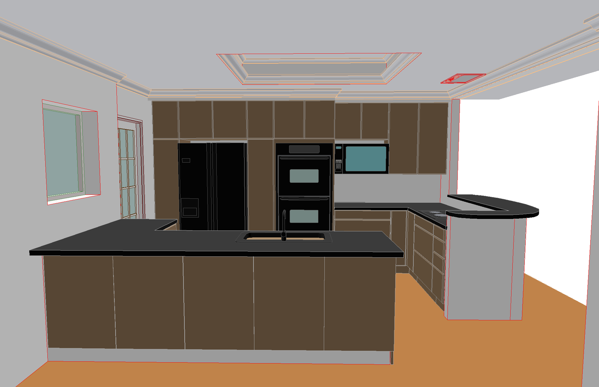 I create simple renderings of every project in 3D during the design process.
