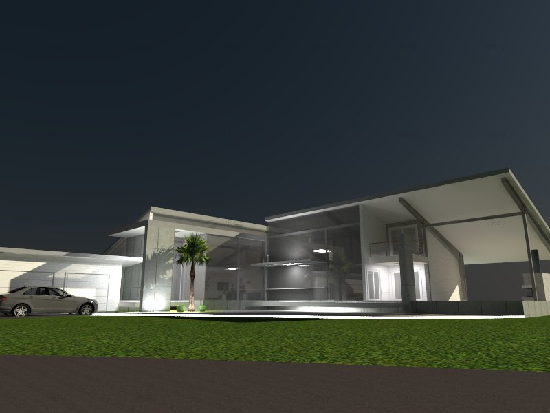 Schematic design for a new modern house in Sarasota, Florida.