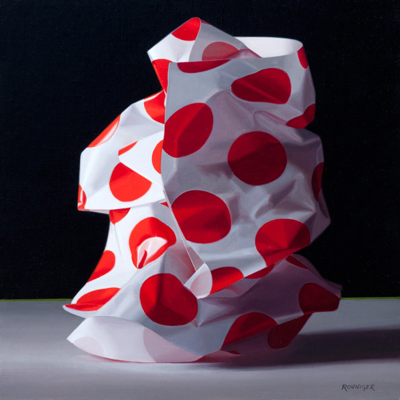 Crumpled Paper, Oil on linen, 14 x 11 inches