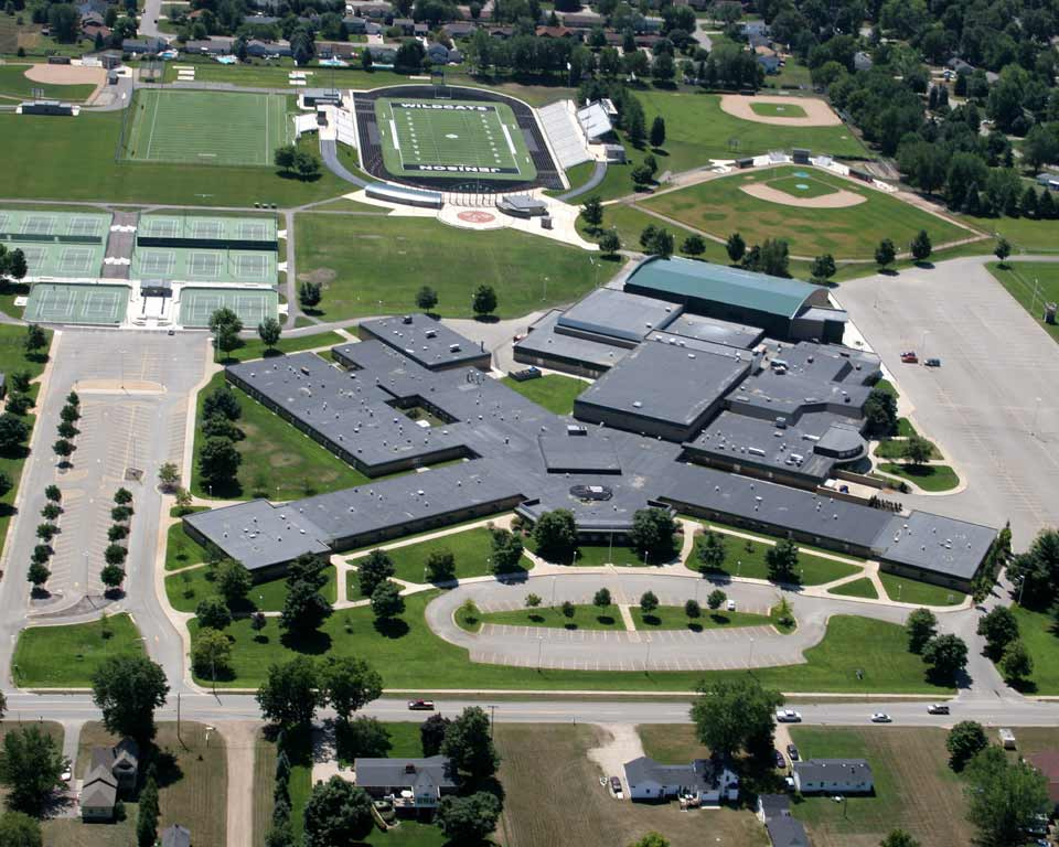 Aerial view of the Jenison High School Campus