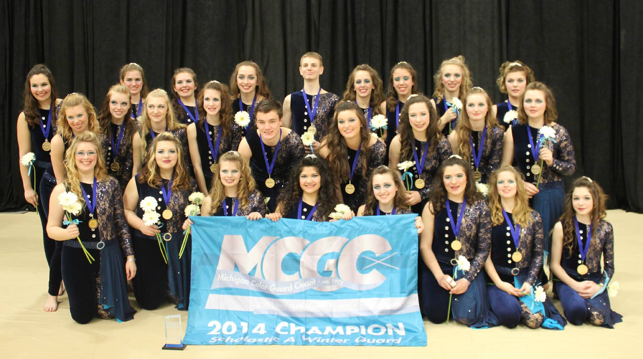 The 2014 Jenison Varsity Winter Guard, MCGC Scholastic A Champion