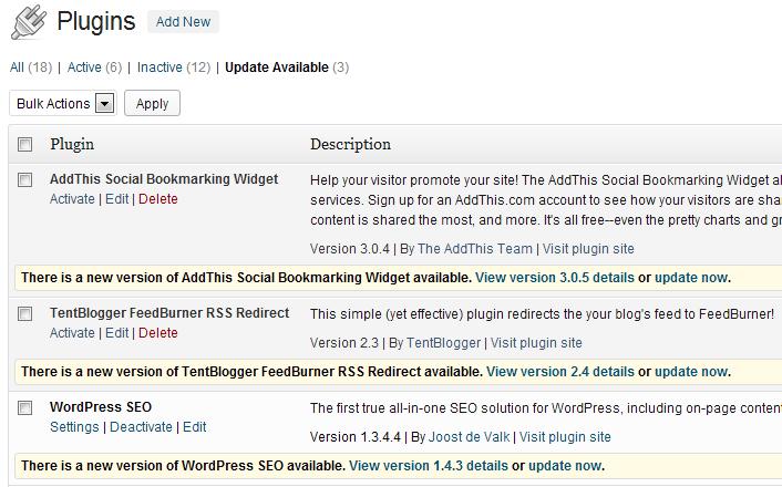 Oppdater Wordpress så ofte du kan!