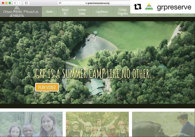 I'm so excited to share my latest project - the new Green River Preserve website! I loved collaborating with the @grpreserve and @ronningendesign teams to make this magic happen. Check it out! One of my favorite pages is the session photo story; I spent a week following a camper photographing his camp experience. 👇🏽greenriverpreserve.org/about-us/experience-camp-photo-session-story . . . .  #summercamp #graphicdesign #webdesign #campphotographer