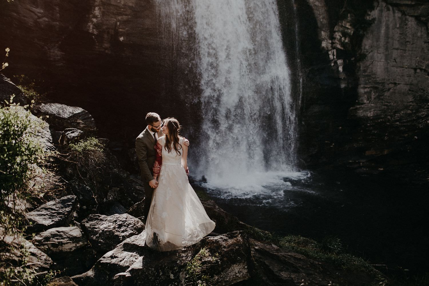 asheville waterfall wedding