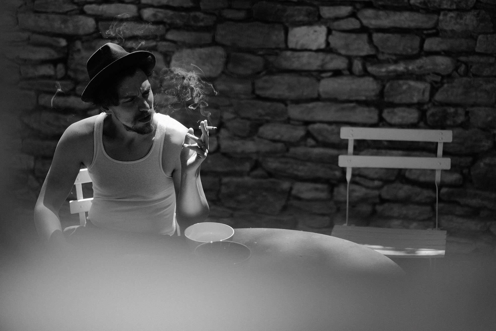 goult provence france groom cigarette photo
