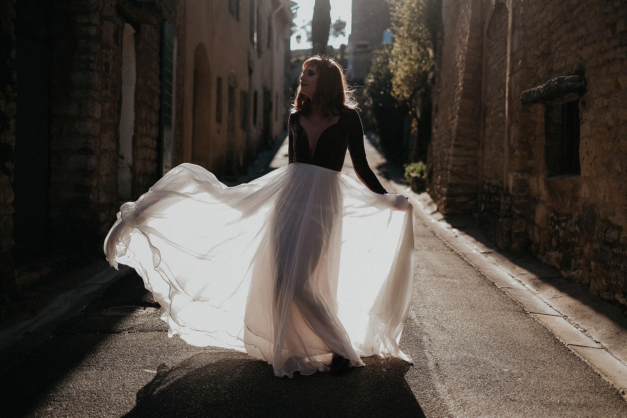 goult provence france elopement vow renewal bride photo
