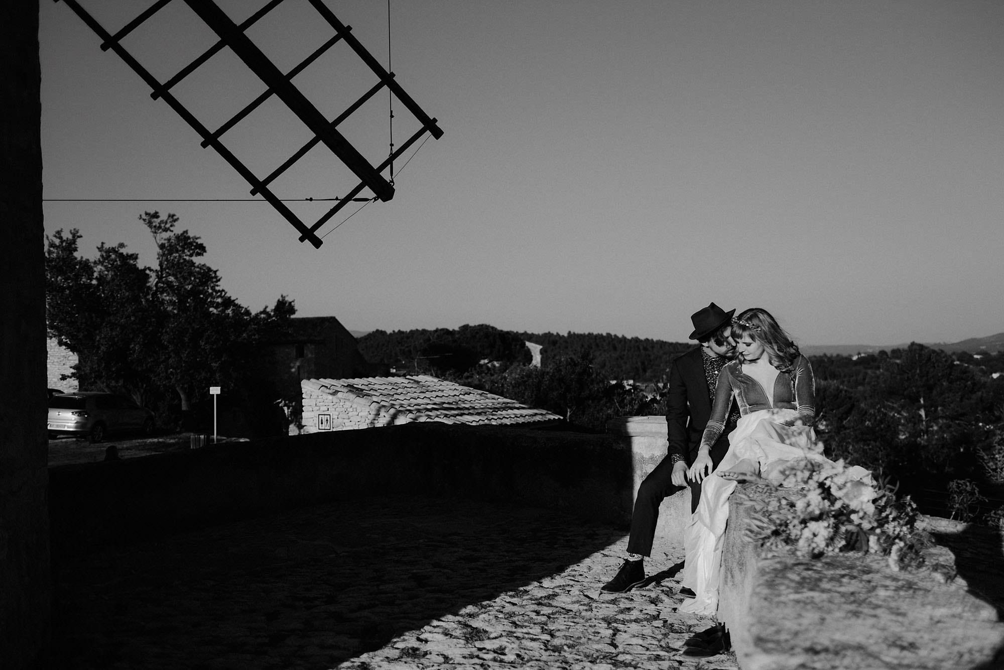 goult provence france elopement vow renewal couple windmill portrait photo
