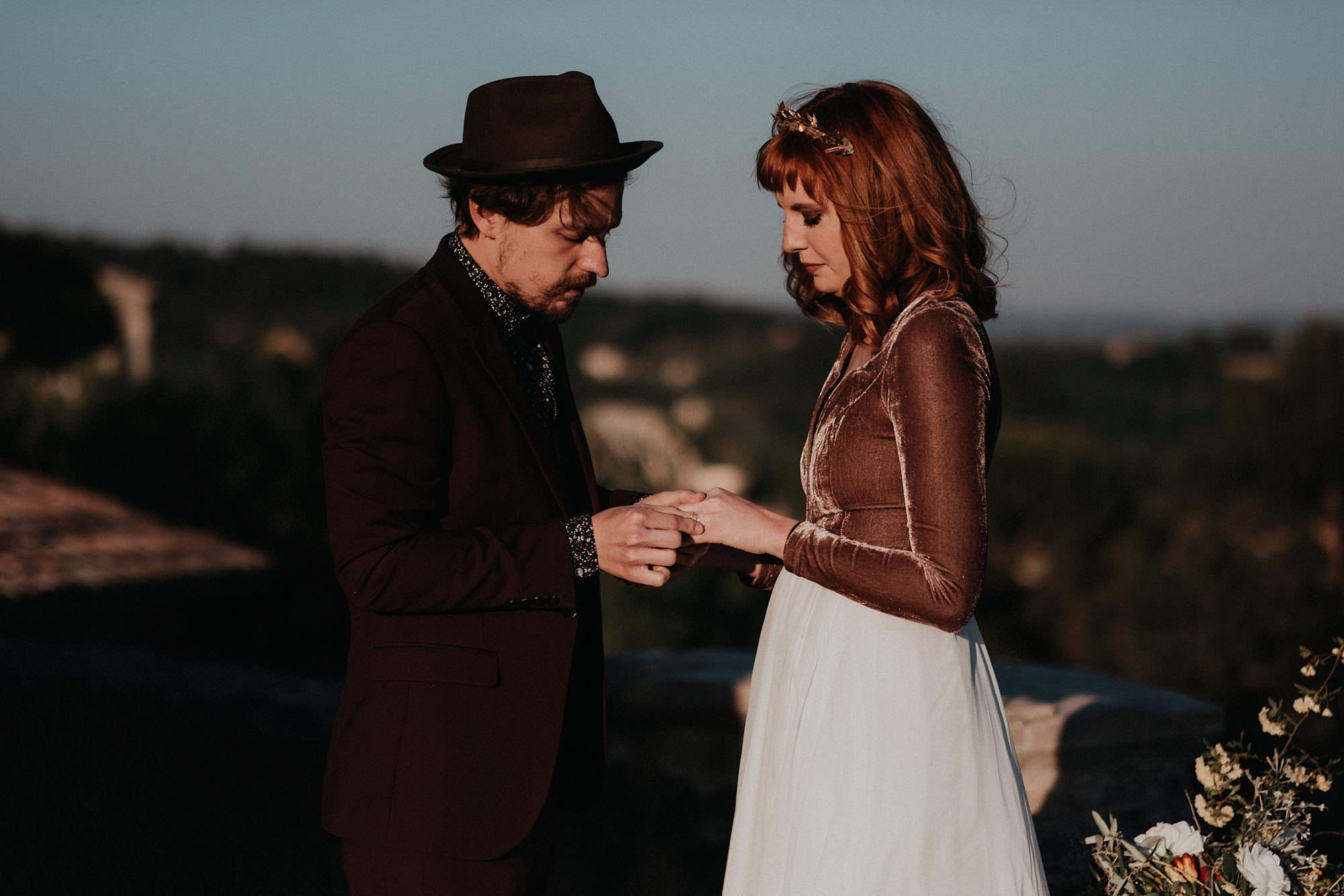 goult provence france elopement vow renewal couple photo