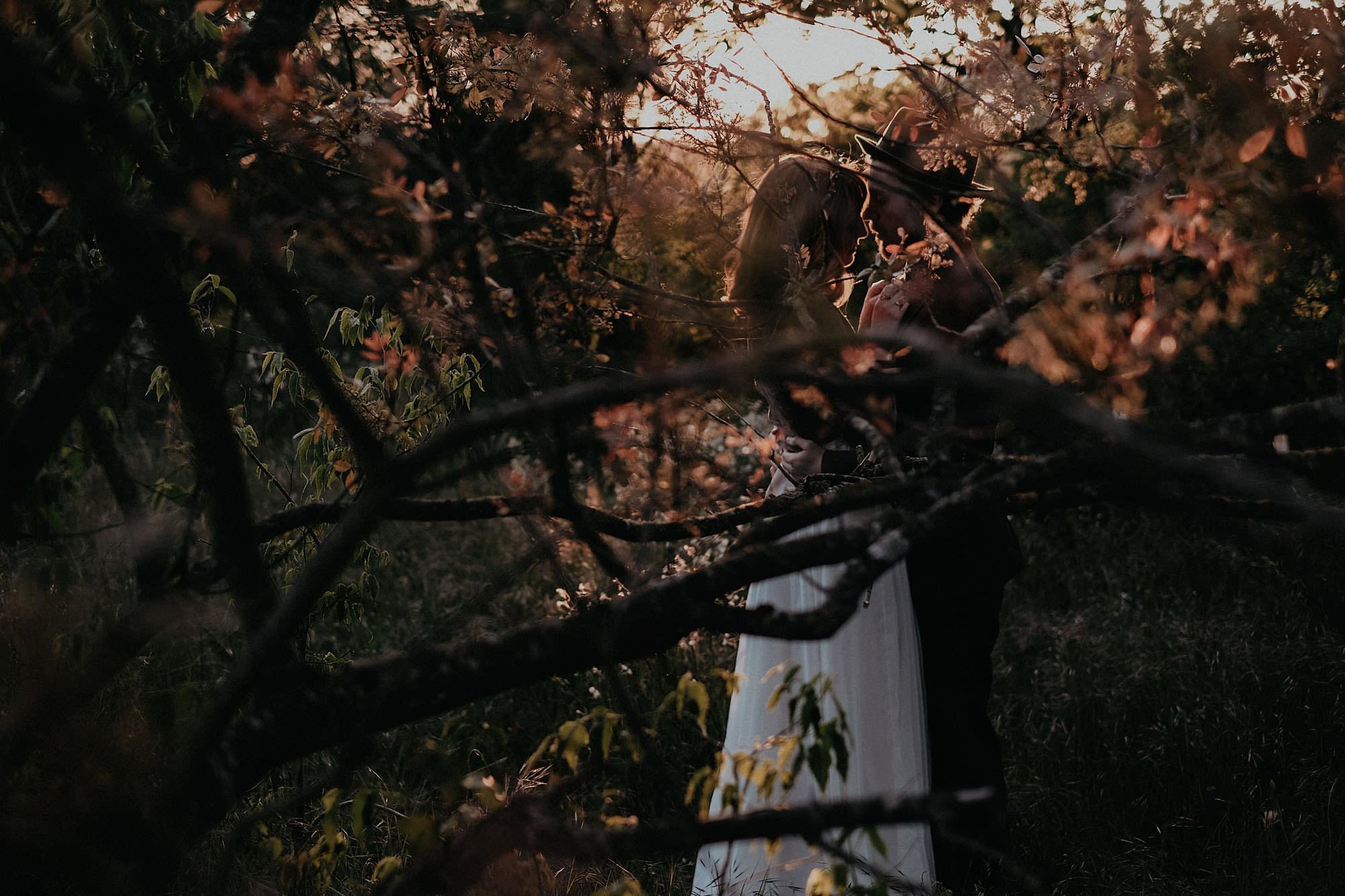 goult provence france elopement vow renewal couple portrait tree photo