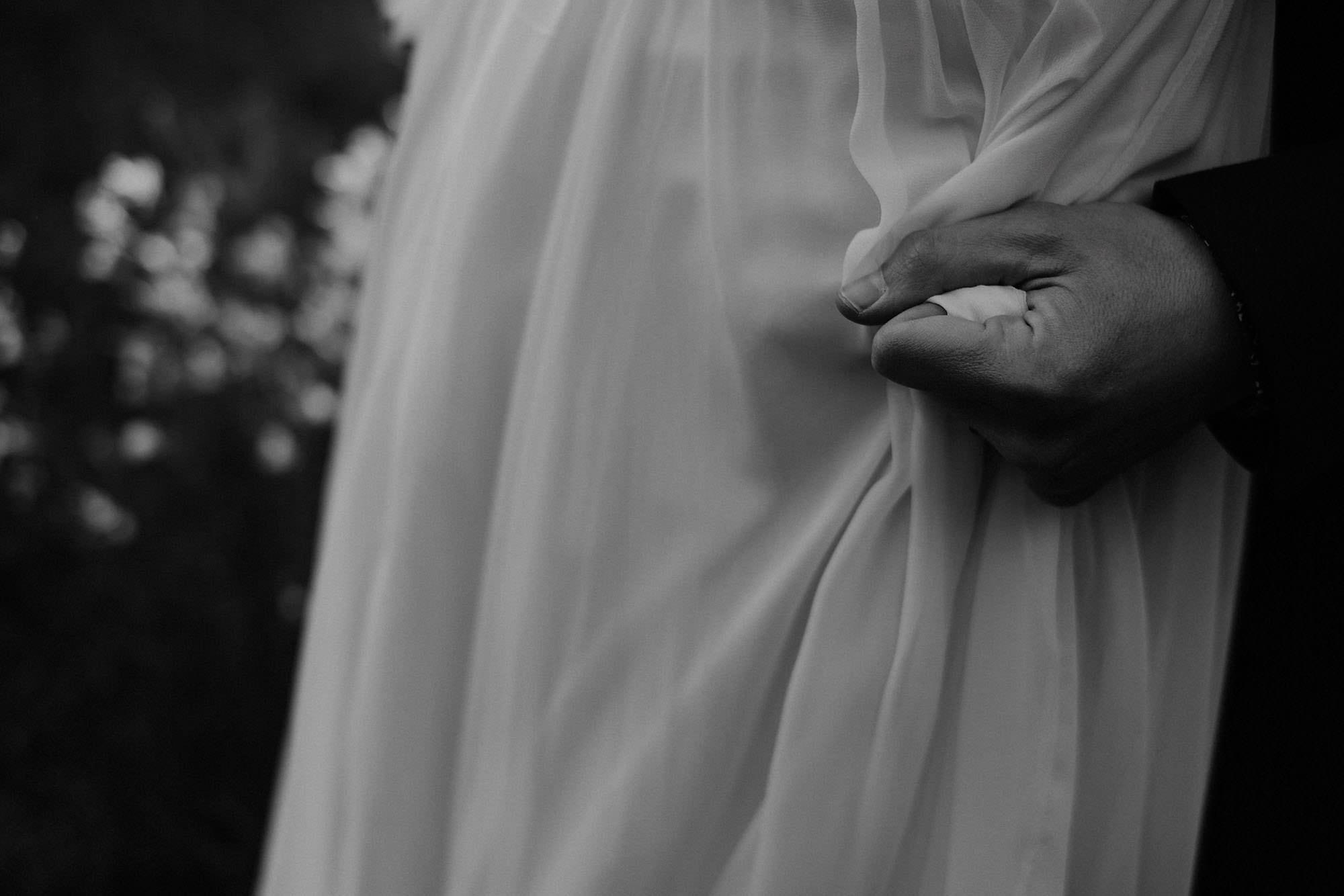 goult provence france elopement vow renewal couple dress hands photo