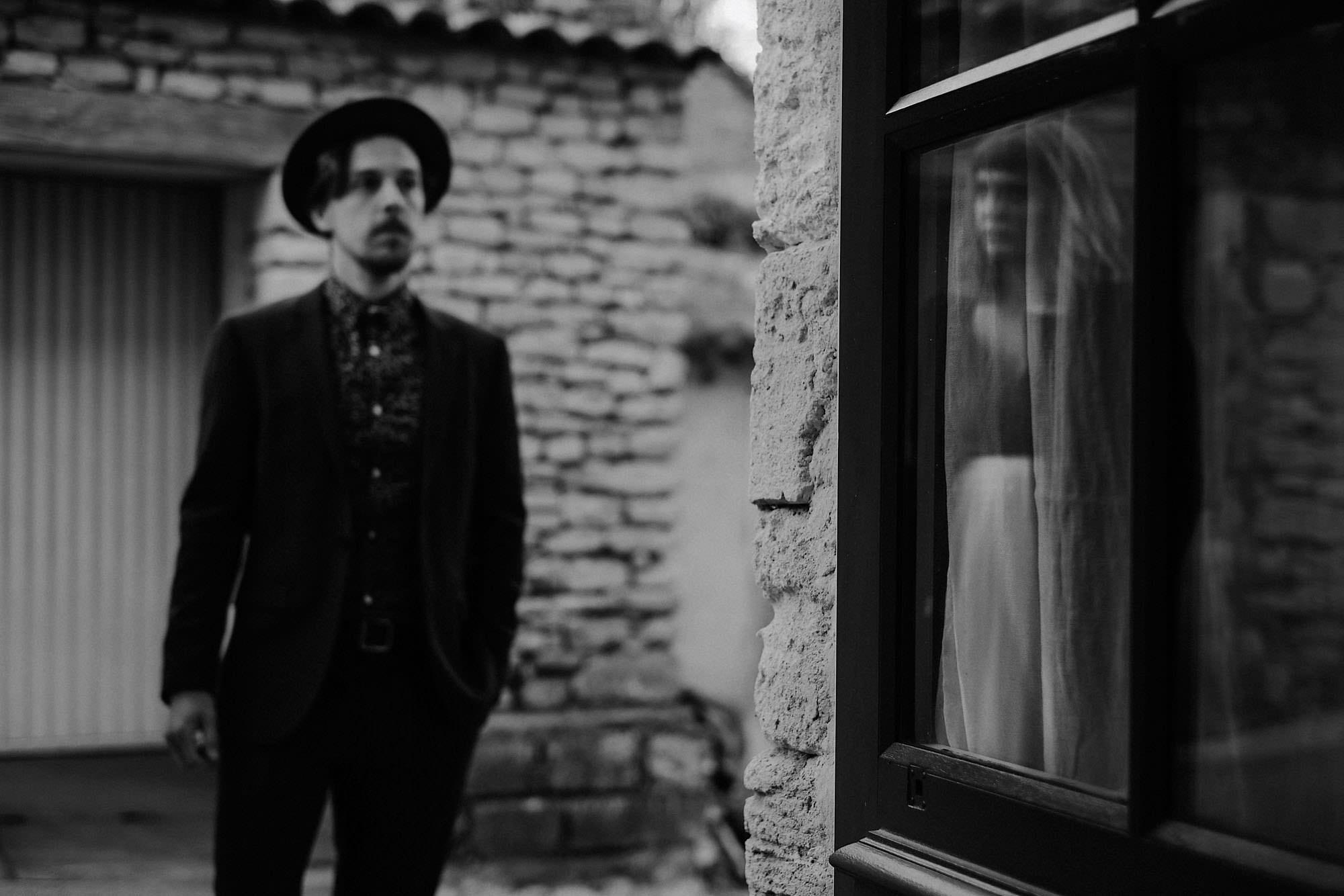 goult provence france elopement vow renewal couple reflection portrait photo