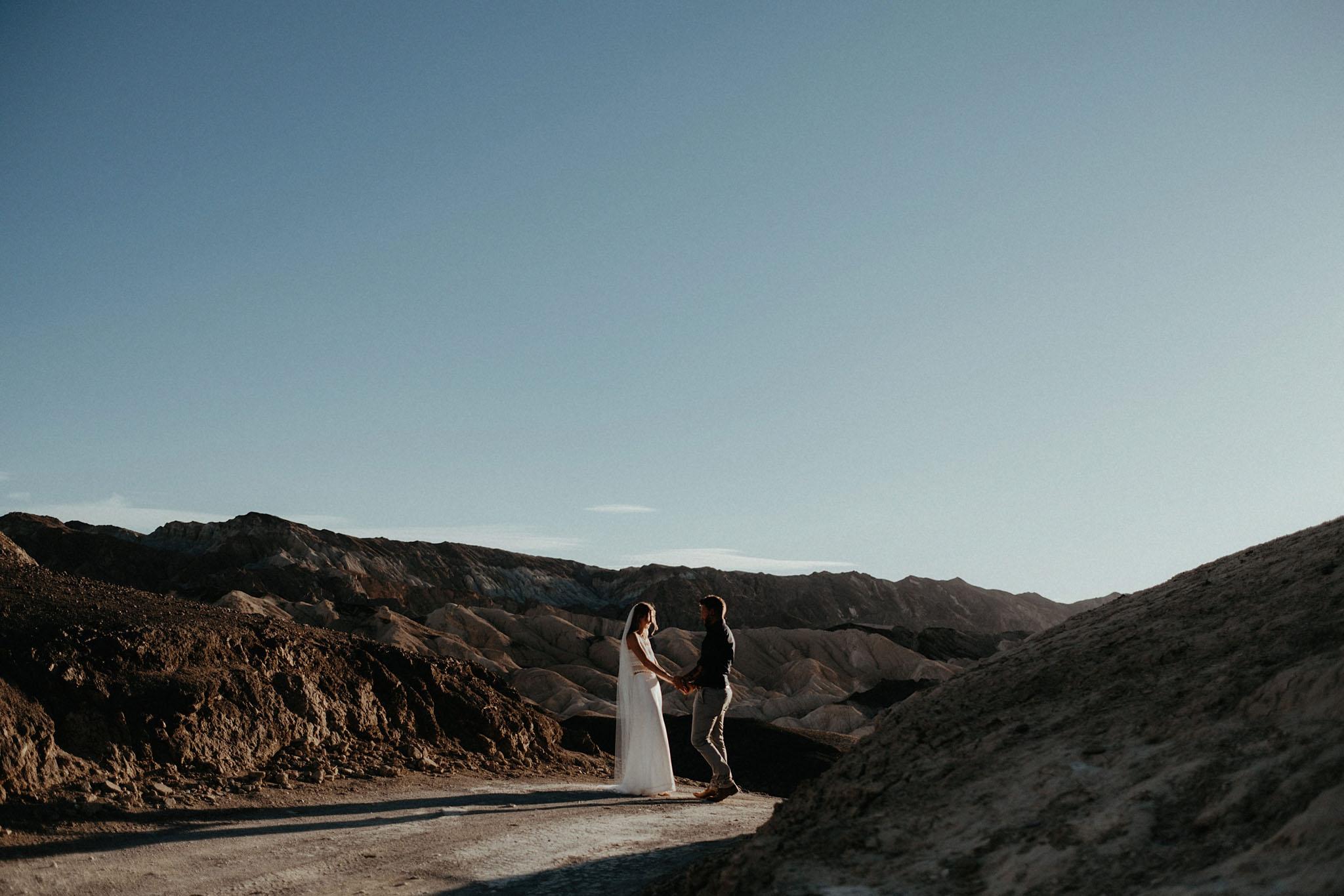 death valley adventure elopement wedding photographer national park couple sunset portrait photo