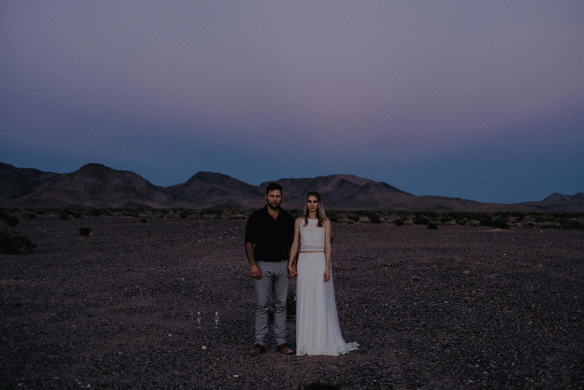 death valley adventure elopement wedding photographer national park couple sunset portrait