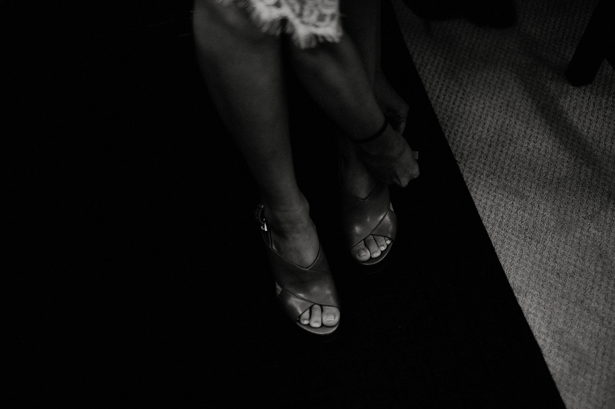 bride getting ready shoes photo