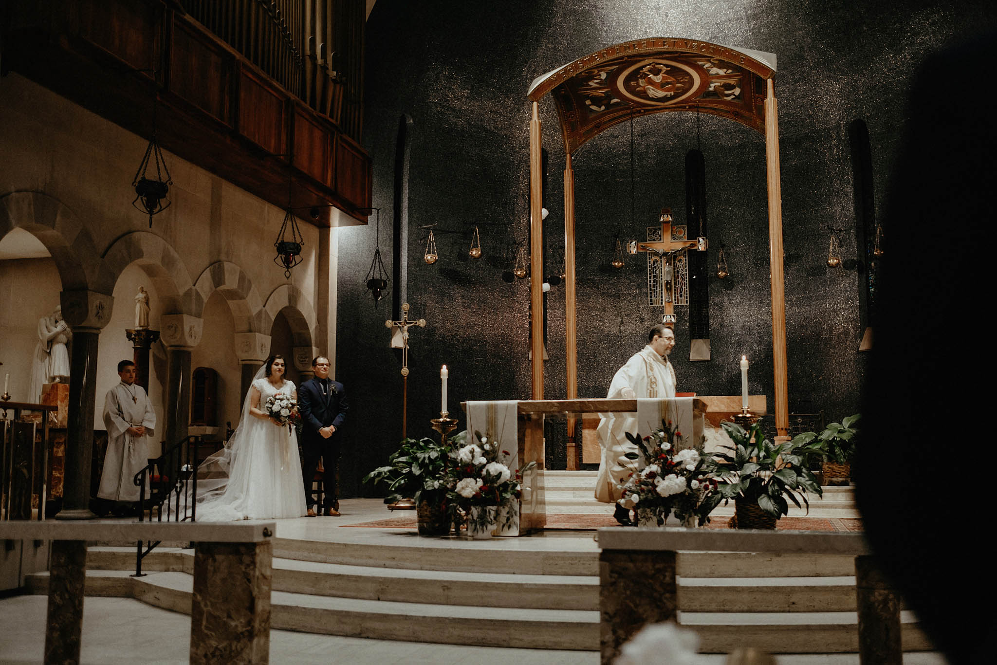 cincinnati warehouse wedding photographer cathedral church ceremony