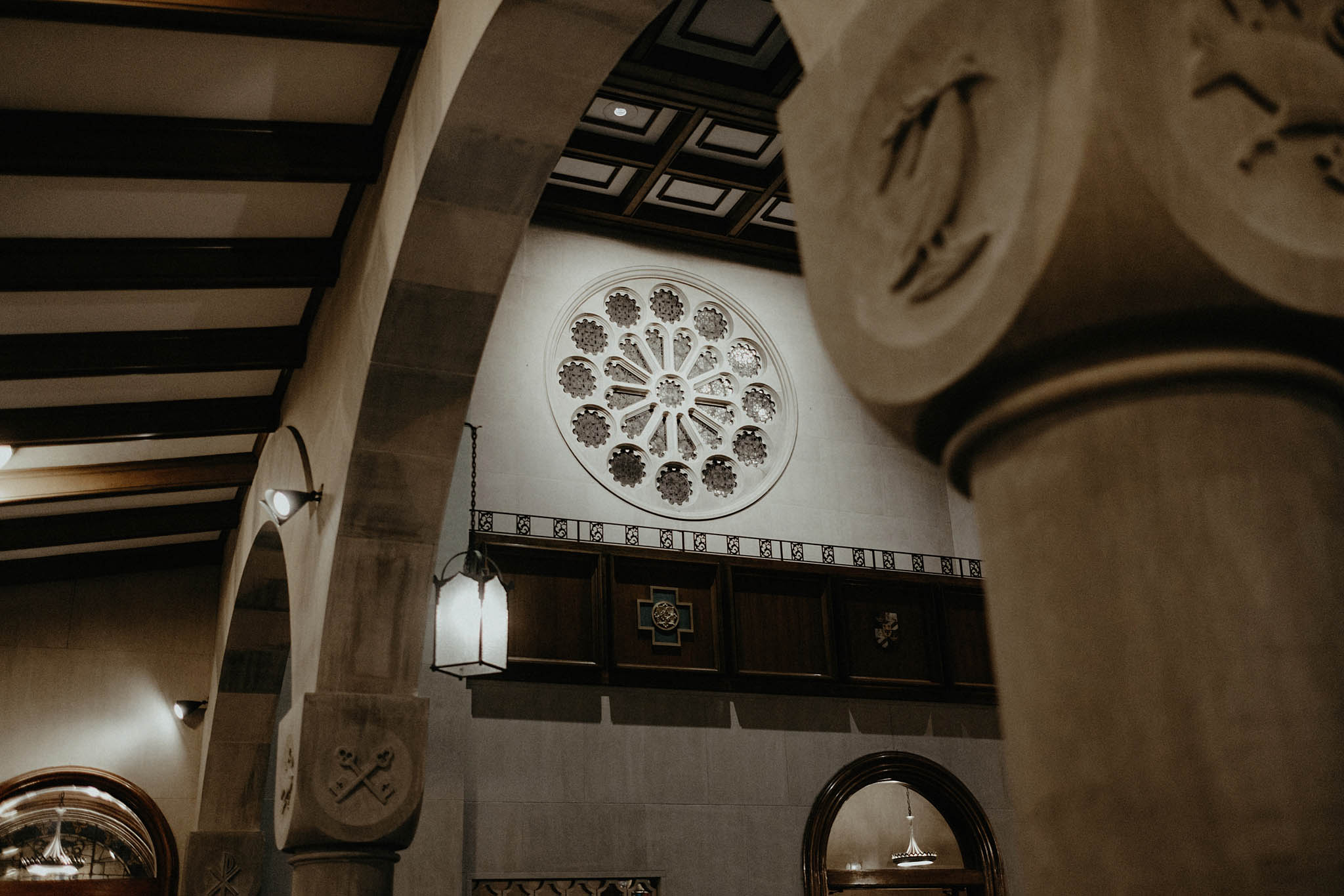 cincinnati warehouse wedding photographer cathedral architecture church ceremony