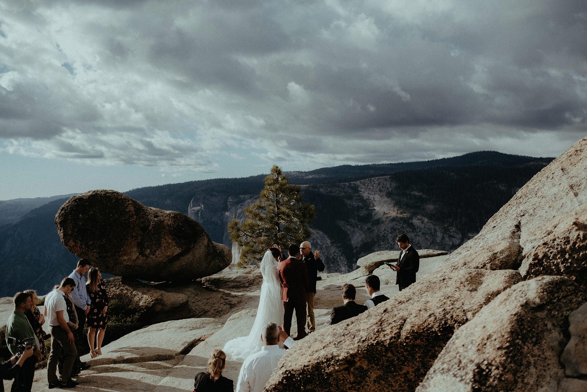 intimate wedding adventure elopement bride forest ceremony michigan photo