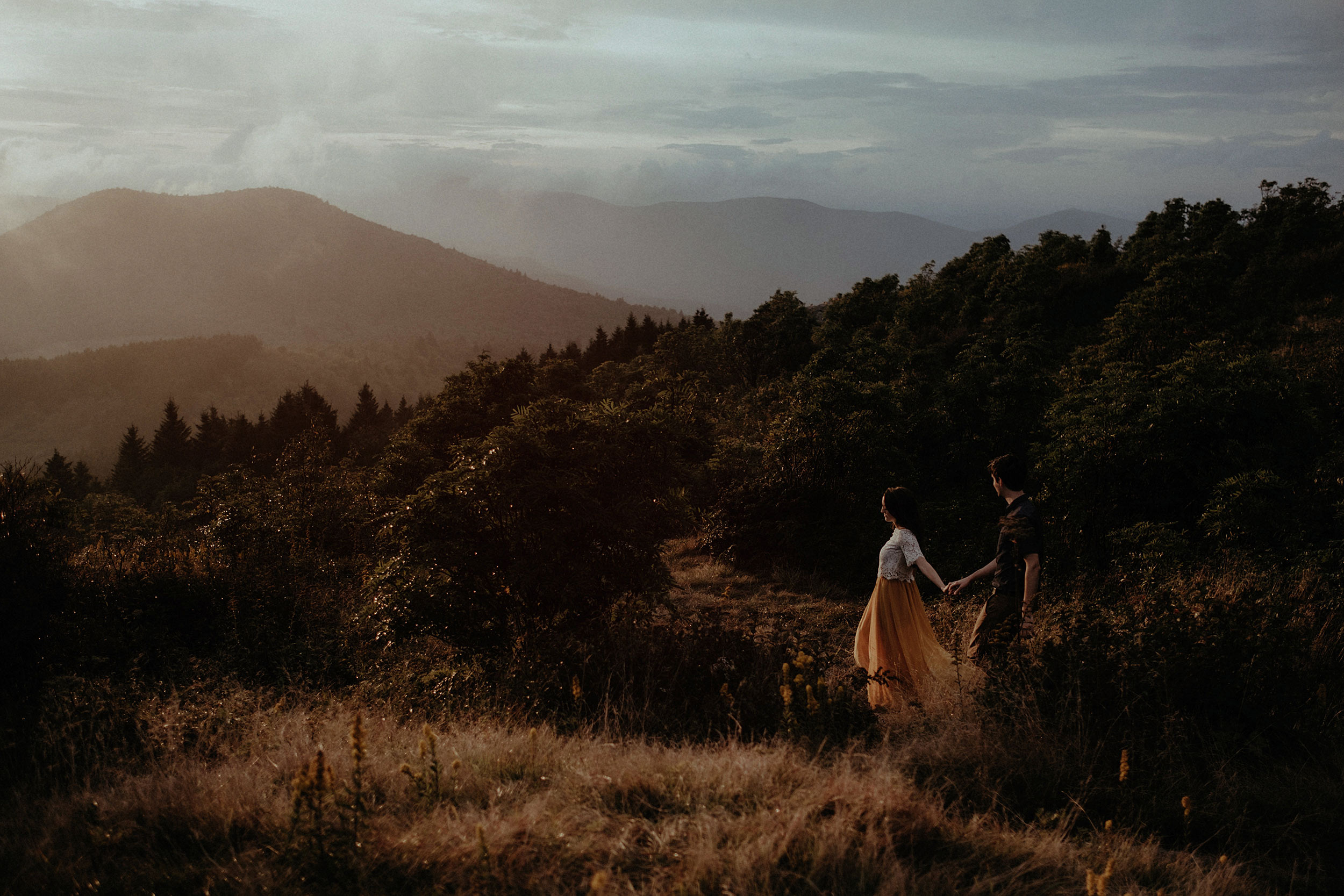 Katie & Nathan - Black Balsam Knob Adventure Engagement Session