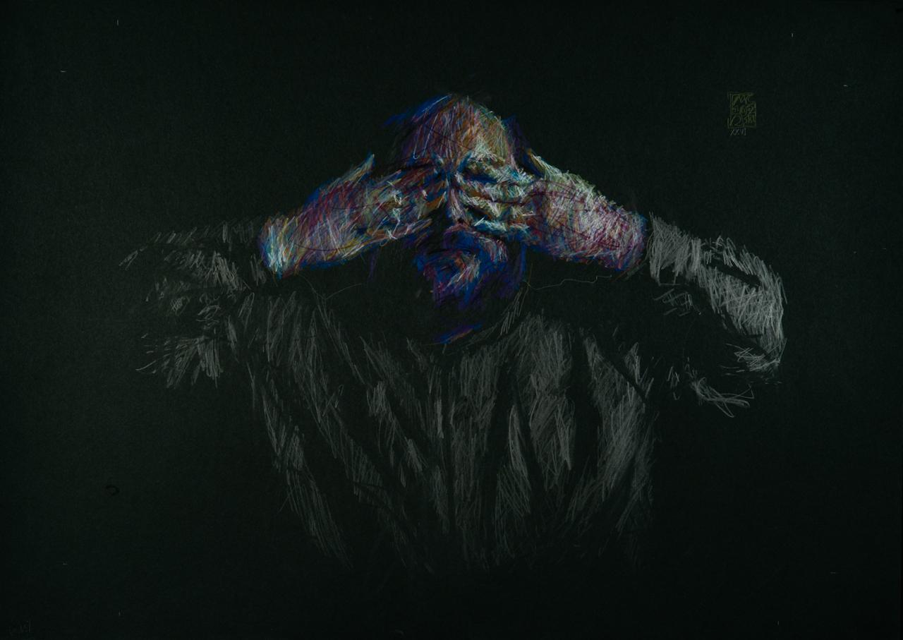Massimo Corona   XXVI  (2011) pastello e grafite su carta 62 x 42 cm