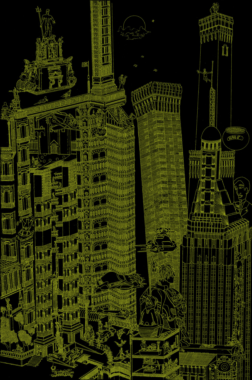 Casolari F. - AMERIQUA (carta nera, inchiostro oro).jpg