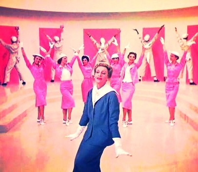 """Kay Thompson singing """"Think Pink!"""" in the 1957 movie,  Funny Face."""