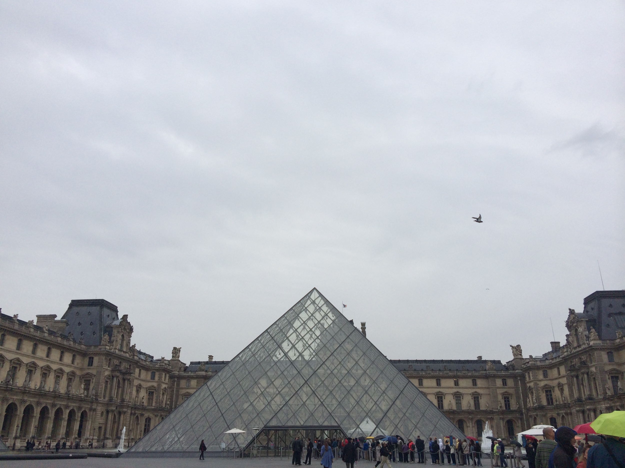 The Louvre with the Pyramid--a feature installed in 1989 and hated by the French because its modern style clashed so completely with the antiquated architecture of the Louvre. I think now they tolerate it more than appreciate it.