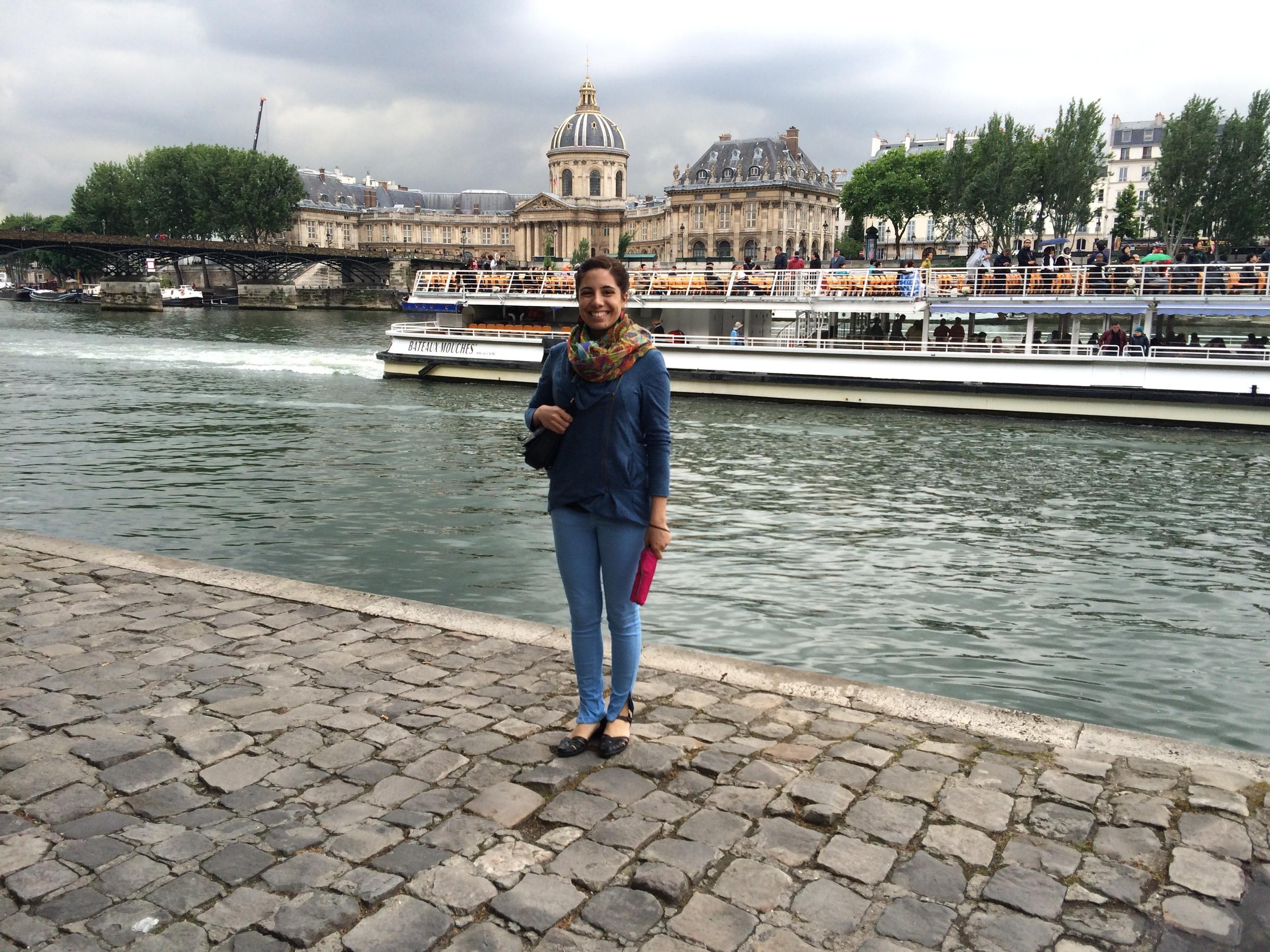 Having an Audrey Hepburn moment along the River Seine!