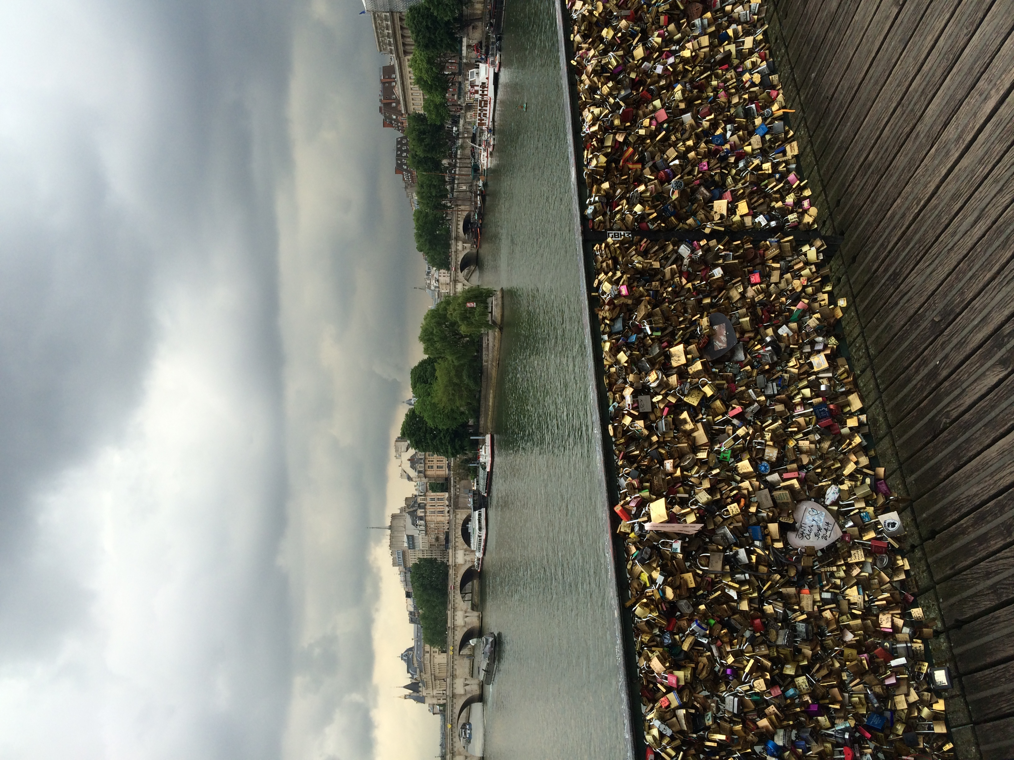 Love Lock Bridge on the River Seine.