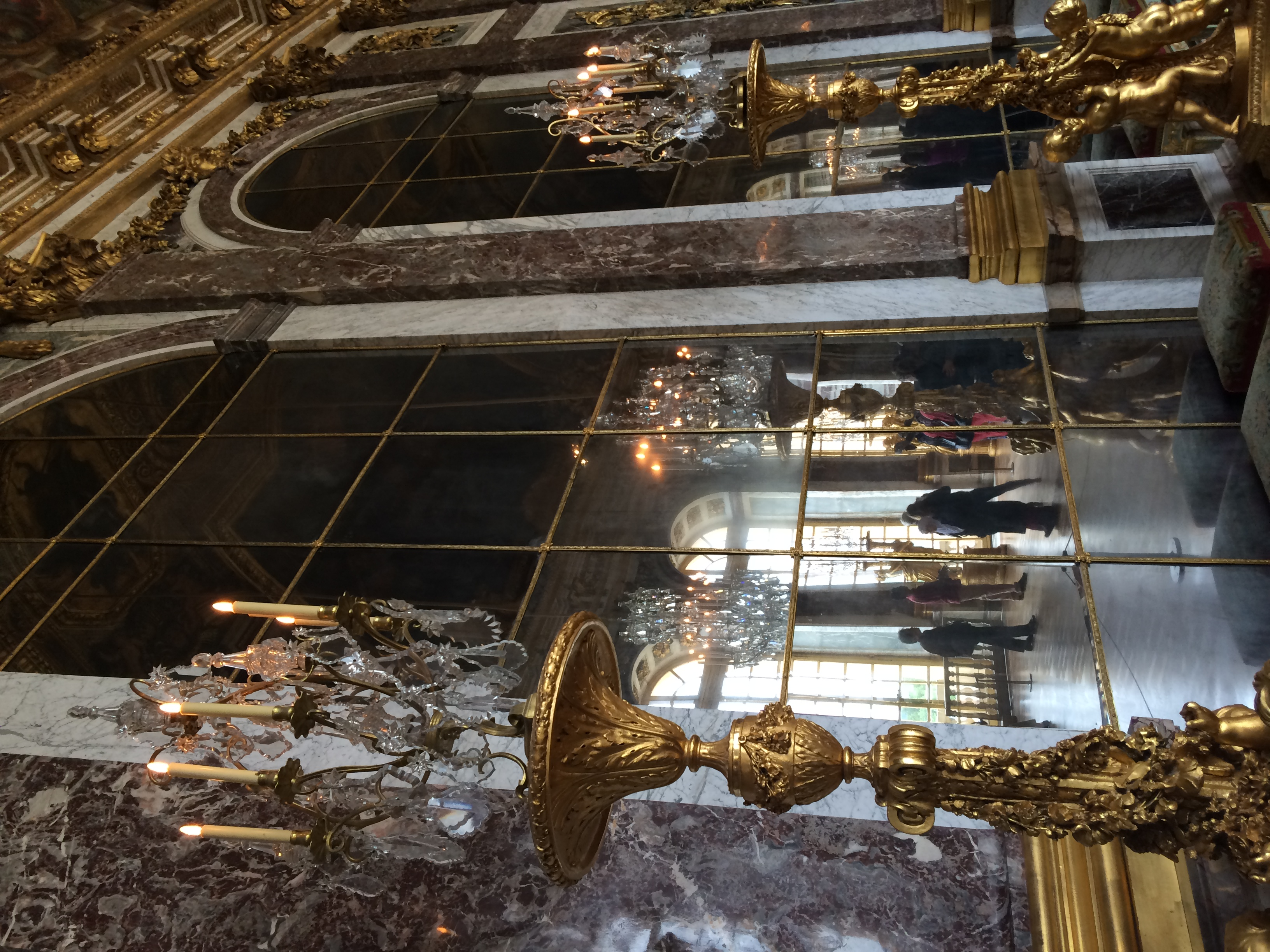A mere corner in the Hall of Mirrors. During the 18th century, mirrors were very expensive to install, so I can only imagine what it cost to install a huge corridor like this one with such pricey material!
