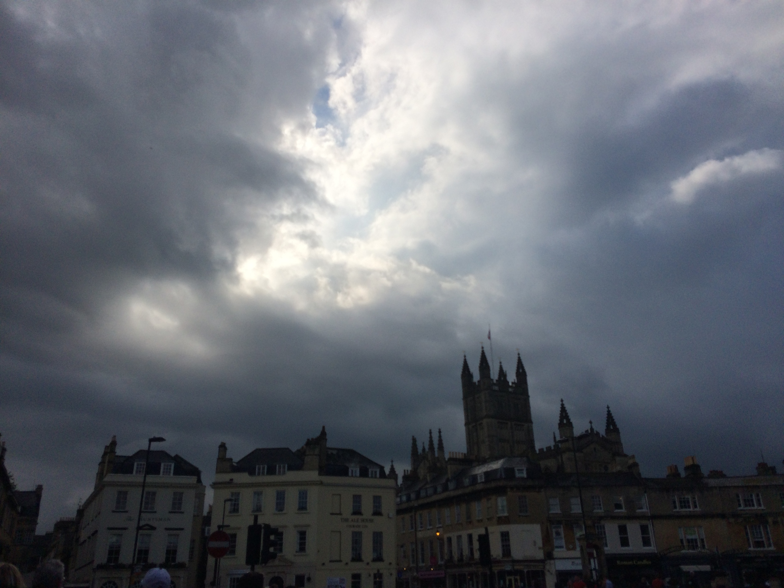 First view of Bath after a rainstorm!