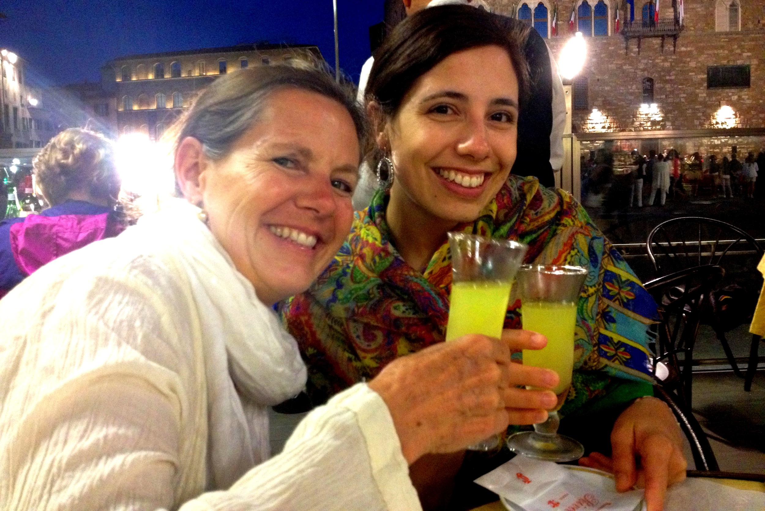 My mom and I enjoying some limoncello in Florence!