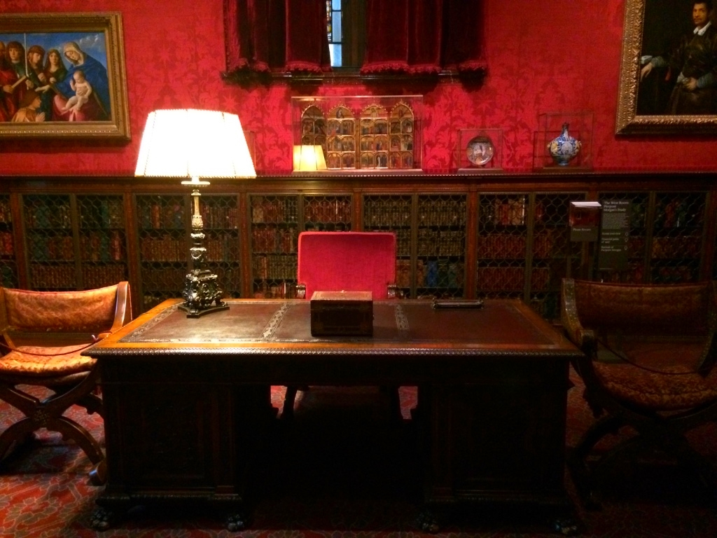 Morgan's desk.