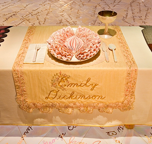 Emily Dickinson's place setting at the Dinner Party.