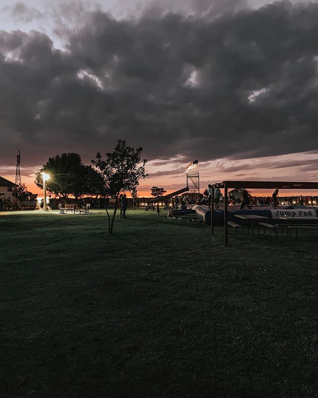 When the sunsets our farm gets a little darker! P Bar Farms After Dark has now started, come on our if you dare! 🤡  #pbarfarms #oklahomafarm #oklahomasunset #thisisoklahoma #pbarfarmsafterdark #hauntedcornmaze