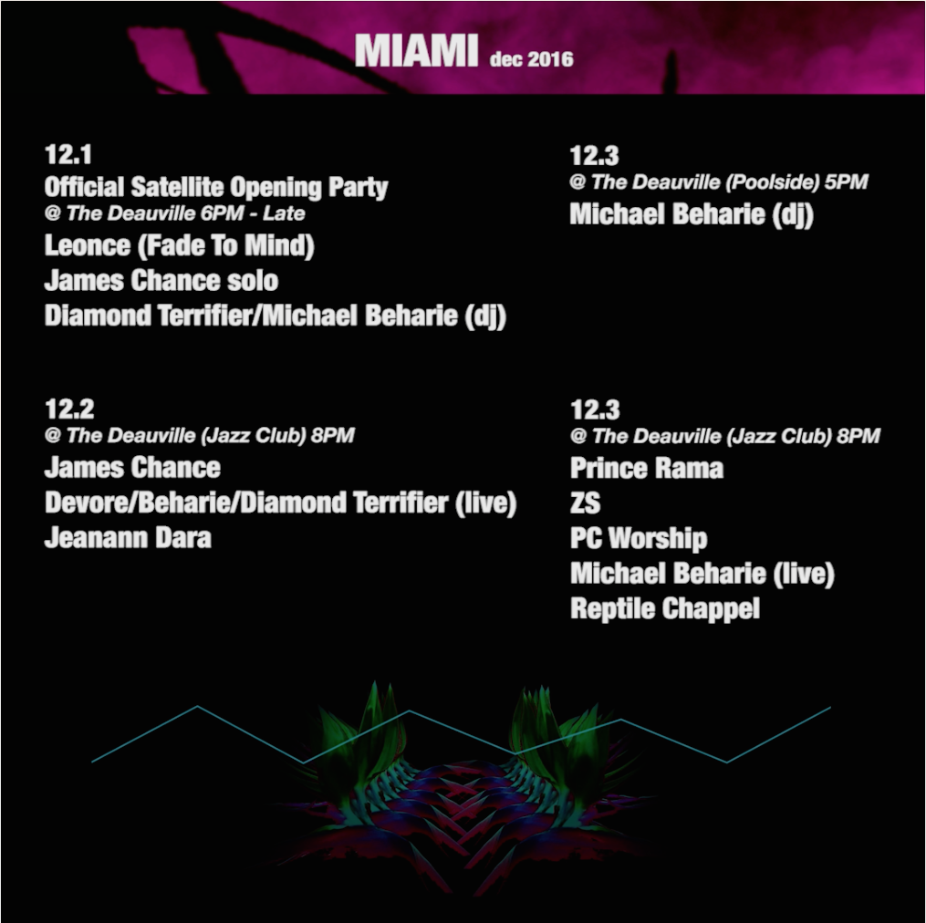 two live sets and two DJ sets at Art Basel Miami 2016