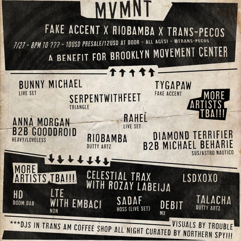 Dj set for Brooklyn Movement Center benefit