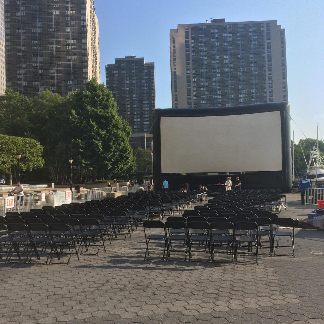 Live set in lower manhattan (230 Vesey) ahead of rooftop films screening