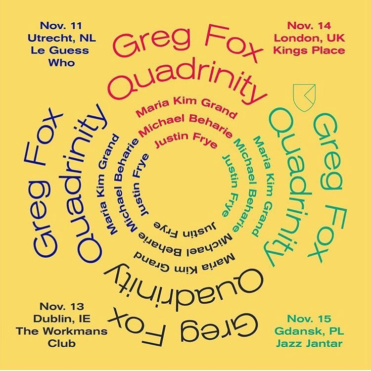 Greg Fox Quadrinity EU tour