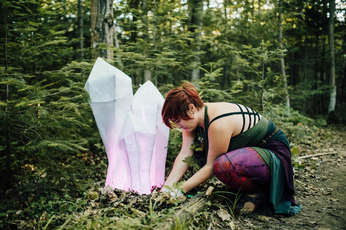 creative crystal installation