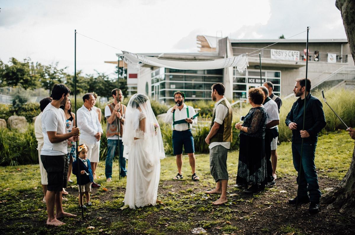 Unconventional Vancouver wedding