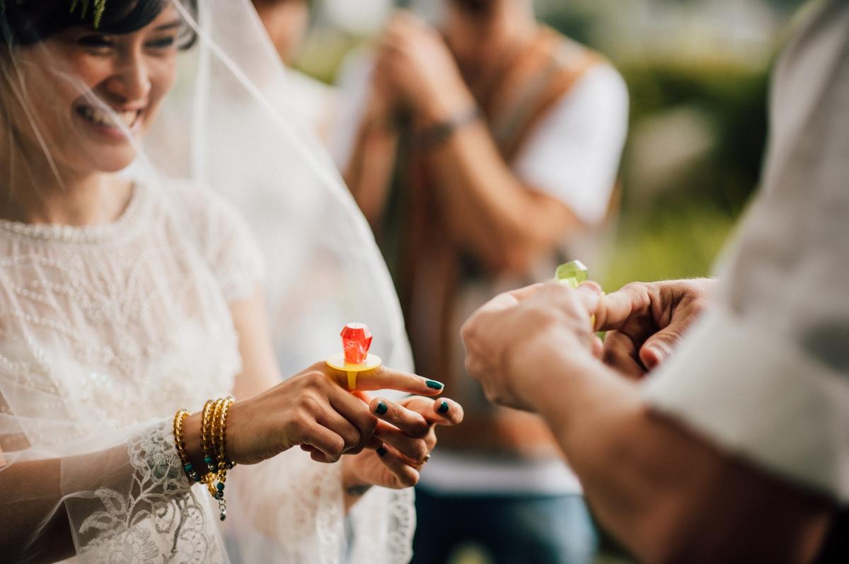 Wedding ring pops