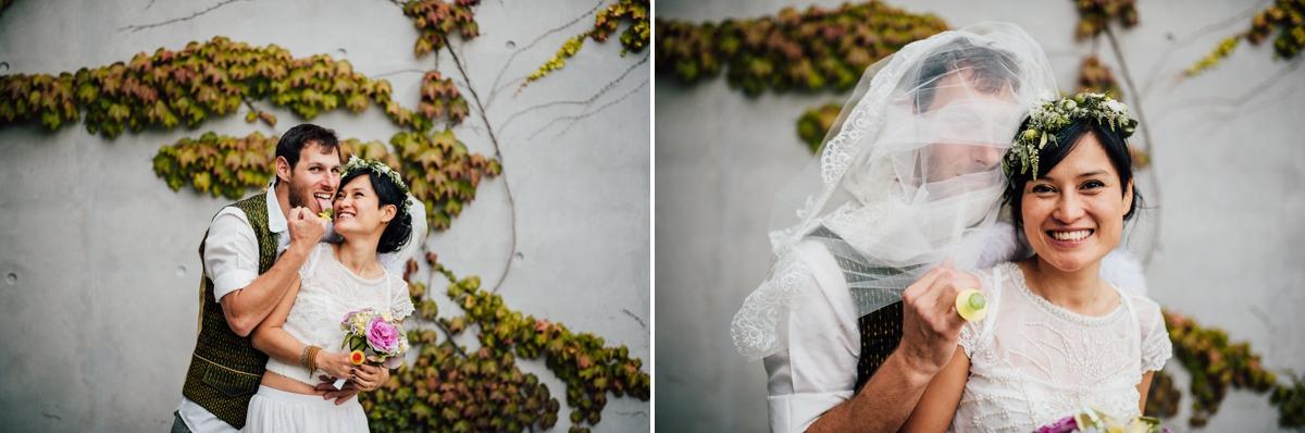 Humorous wedding photography