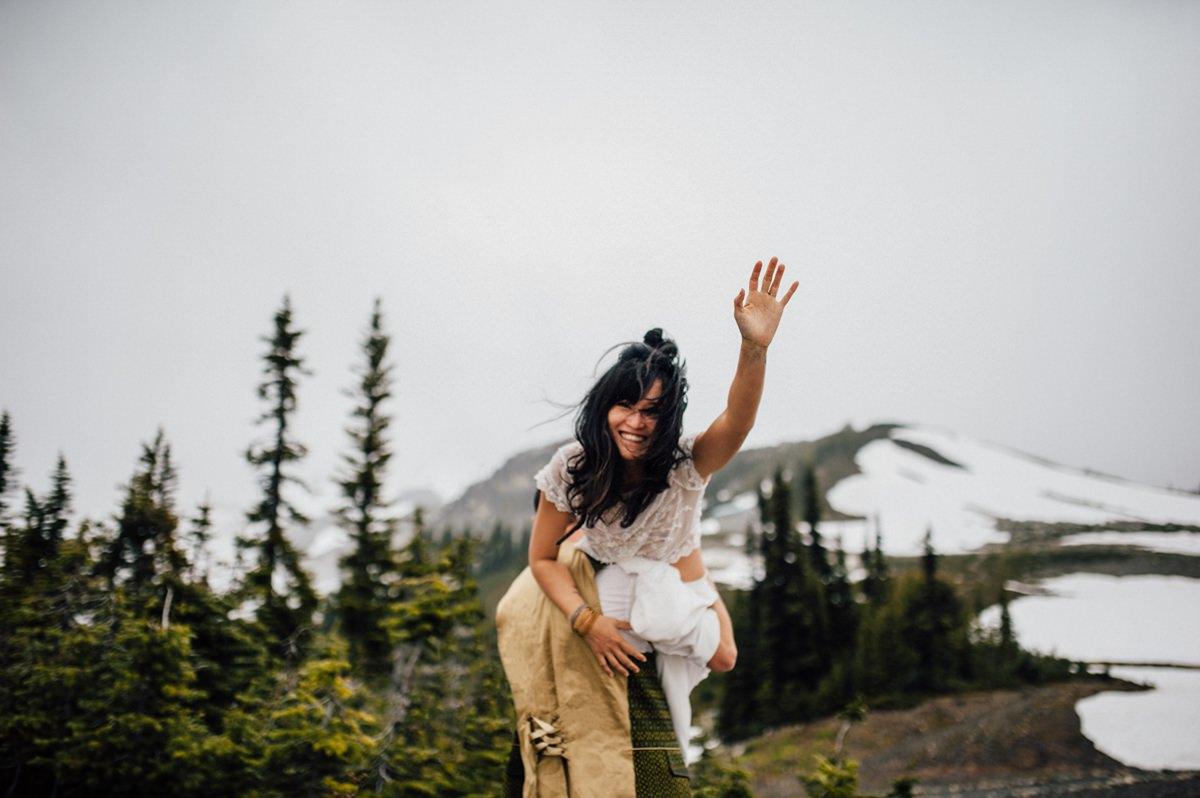 Magical mountain wedding