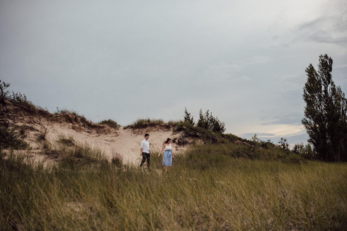 Toronto engagement session on sandy beaches
