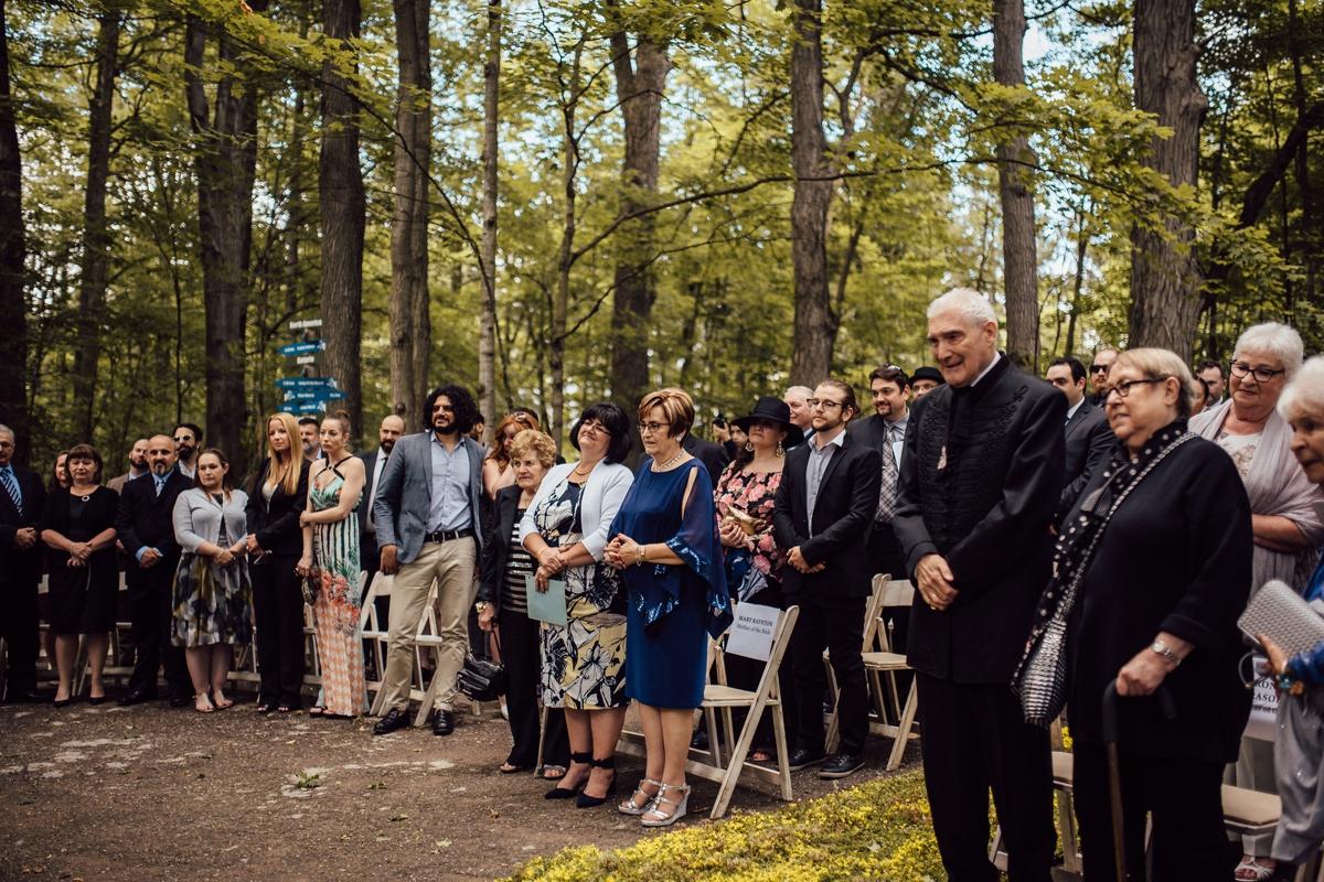 Outdoor forest Toronto wedding